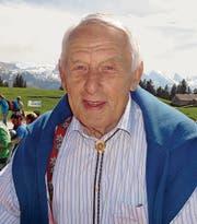 Willi Forrer freut sich auf die Geburtstagsfeier auf Gamplüt. (Bilder: Adi Lippuner)