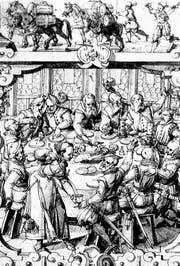 Geselligkeit hat – wie hier in Bern im 17. Jahrhundert – bei den Kaufleuten Tradition: Solche oder ähnliche Szenen dürften sich auch in der St. Galler Gesellschaft zum Notenstein und später im Kaufmännischen Directorium abgespielt haben. (Bild: Kunstmuseum Bern)