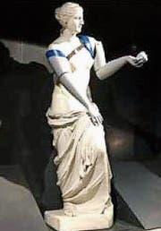 Die Venus mit zwei Armprothesen in der Pariser Métro. (Bild: PD)