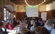Tanja Ulrich referierte vor den Logopädinnen und Logopäden. (Bild: PD)