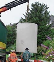 Bühler hat jetzt einen Halbunterflurbehälter. (Bild: PD)