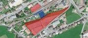 Die rot und blau gekennzeichneten Flächen werden Teil der Arealentwicklung sein. (Bild: PD)