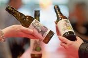 Bisher gibt es drei neue Cider-Sorten von Möhl. (Bild: Michel Canonica)