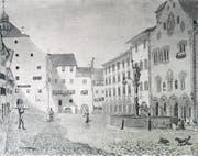 Wil stand jahrhundertelang unter äbtischer Herrschaft. (Bild: Stadtarchiv Wil)