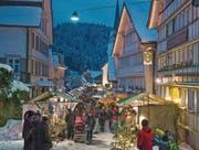 Der Weihnachtsmarkt in Schwellbrunn ist auf 54 Stände beschränkt. (Bild: PD)