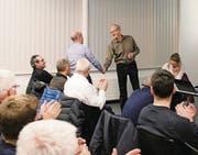Peter Schmid (r.) präsidierte die IG Sport seit deren Gründung im März 2009. (Bild: John Graf)