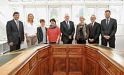 Der Gemeinderat Herisau wird bald neu zusammengesetzt sein. Ursula Rütsche (dritte von links) tritt auf Ende Amtsjahr zurück. (Bild: PD)