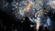 Das Feuerwerk ist jedes Jahr einer der Höhepunkte des Romanshorner Sommernachtsfestes. (Bild: Nana do Carmo)