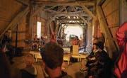 In charmantem Ambiente und mit viel Holz: ein Bild vom letzten Brückenfest. (Bild: pd/Stefan Krucker (September 2014))
