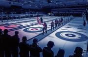 Die Eröffnungsfeier im Eisstadion Lerchenfeld war nicht der einzige Höhepunkt des ersten Tages. (Bild: Michel Canonica)