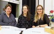 Sie machten den fünften zusätzlichen Sitz unter sich aus: Irene Haltmeier, Doris Tobler und Janine Inauen. (Bild: Trudi Krieg)