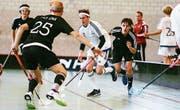 U17-Unihockey-Spieler beim Turnier in Weinfelden. (Bild: PD)