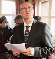 Gemeindepräsident Martin Imboden will die Entwicklung beim Windpark Wuppenau/Braunau genau im Auge behalten. (Bild: Christof Lampart)