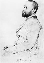Eduard Engel, gezeichnet von Ismael Gentz, Berlin 1890. (Bild: Die Andere Bibliothek/PD)