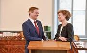 Der Grosse Rat hat die Auswahl zwischen Marcel Ogg und Anna Katharina Glauser Jung. (Bild: Donato Caspari)