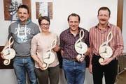 Claudio Fust, Renate Brändle, Ruedi Brändle, Urs Loser (von links). (Bild: pd)