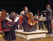 Die jungen Musikerinnen und Musiker der Quarta 4 Länder Jugendphilharmonie konzertieren im Carmen-Würth-Saal. (Bild: Gisela Tobler)