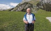 Der bald 80jährige Willi Forrer bei einem seiner Besuche in der alten Heimat auf Gamplüt.