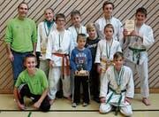 Erfolgreiche Buchser Judokas am Werdenberger Herbstturnier. (Bild: PD)