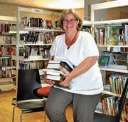 Regionalbibliotheksleiterin Rahel Ilg im Provisorium. (Bild: Iliana Perera)