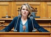 Kathrin Bertschy spricht während einer Debatte im Nationalrat. (Bild: Peter Klaunzer/Keystone (Bern, 5. Dezember 2017))