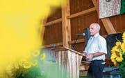 SVP-Bundesrat Ueli Maurer während seiner Festansprache in der politischen Gemeinde Warth-Weiningen am 1. August 2017. (Bild: Andrea Stalder)