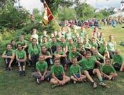 Die Kinder der Jugi Bütschwil freuen sich über ihre guten Leistungen am Jugendturnfest. (Bild: PD)