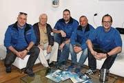 Mitglieder des Tauchclubs am Tag der offenen Tür im Vereinslokal. (Bild: Peter Spirig)