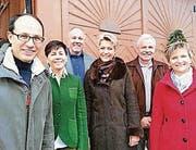 Marc Mächler, Imelda Stadler, Orlando Simeon, Karin Keller-Sutter, Fritz Rutz und Vreni Wild. (Bild: pd)
