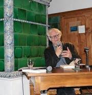 Adolf Muschg hielt eine Lesung im Schloss Werdenberg zur Einstimmung ins Jahresprogramm. (Bild: Esther Wyss)