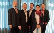 Der Vorstand des Pfarrvereins Thurgau: Christian Herbst, Richard Ladner, Lars Heynen, Sarah Glättli und Martin Epting. (Bild: PD)