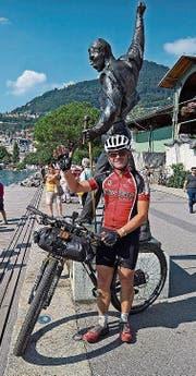 Werner Brunner erreicht nach einer Woche und elf Stunden Montreux. (Bild: PD)