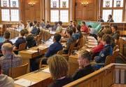 Das Jugendparlament während der Session im vergangenen November im Regierungsgebäude in Herisau. (Bild: PD)