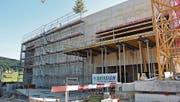 Der Rohbau des Rechenzentrums in Gais ist abgeschlossen. (Bild: gia)