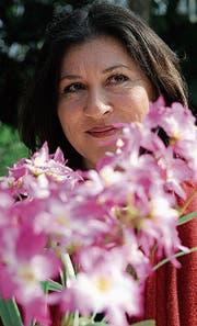 Die Schauspielerin Eva Mattes bei «Tatort»-Aufnahmen auf der Insel Mainau. (Bild: Susann Basler/Archiv)
