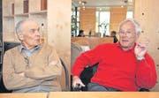 Die ehemaligen Thurgauer Landärzte Alfred Muggli und Alfred Stahel schätzen Roland Kuhn (1912-2005). (Bild: Nana do Carmo)
