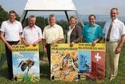 Sie nach Bern: Martin Huber, Andreas Guhl, Markus Berner, Karin Peter Kis, Kolumban Helfenberger und Roland A. Huber. (Bild: Christof Lampart)