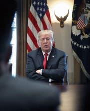 US-Präsident Trump will Ordnung ins Weisse Haus bringen. (Bild: Win McNamee/Getty (Washington, 1. März 2018))