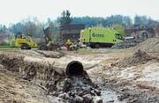 Fast eine halbe Million kostet der Hochwasserschutz bei Gutbertshausen. (Bild: Georg Stelzner)