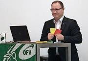 OFV-Präsident Häuselmann referiert über Fairness im Sport. (Bild: PD)