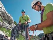 Diese Polizisten arbeiten nebenamtlich im Alpinkader. (Bild: Samuel Schalch)