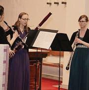 Sie musizierten gemeinsam: Elena Gonzales, Magdalena Peter und Marietta Bosshart (v. l.). (Bild: Christof Lampart)