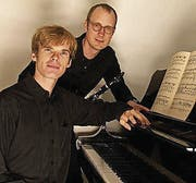 Klarinettist Valentin Wandeler, Pianist Matthias Roth. (Bild: PD)