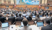 Die Thurgauer fehlen weniger als die andern Ostschweizer: Blick in den Nationalratssaal während der diesjährigen Herbstsession. (Bild: ky/Lukas Lehmann)