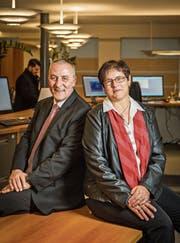 Ein starkes Team: Das Ehepaar Bernet arbeitete 30 Jahre bei der Raiffeisenbank. (Bild: Reto Martin)