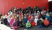 Am Fasnachtsdienstag durften die Gamser Kinder verkleidet in die Schule kommen. (Bild: PD)