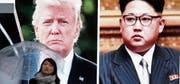 Die Fehde zwischen US-Präsident Donald Trump und Nordkoreas Machthaber Kim Jong Un beschäftigt die ganze Welt. (Bild: Koji Sasahara/AP (9. März 2018))