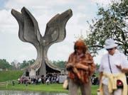 «Die steinerne Blume» – das Denkmal für die Opfer des Konzentrationslagers Jasenovac, entworfen von Bogdan Bogdanovic, erbaut 1966. (Bild: getty/afp)