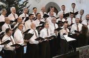 Der Männerchor bot ein abwechslungsreiches Weihnachtsprogramm. (Bild: Fritz Heinze)