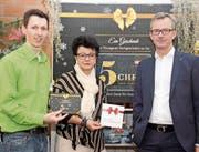 Vorstandsmitglieder des kantonalen Dachverbands der Thurgauer Detailfachhandelsgeschäfte: Florian Küng, Elisabeth Steiner und Matthias Hotz. (Bild: Christof Lampart)